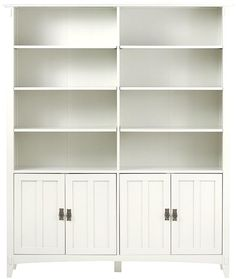 Artisan Double Bookcase with Doors - Double Bookcase - 4-shelf Bookcase - Arts And Crafts-style Furniture - Craftsman-style Furniture | HomeDecorators.com