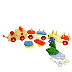Trem de encaixe baby, Trem de encaixe baby GR Brinquedos, Brinquedos GR, trenzinho Brinquedos educativos, trenzinho de madeira, trenzinho para crianças