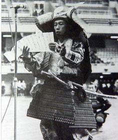 Ueshiba Kishumaru Sensei Second Aikido Doshu in full Armour