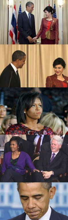 President Obama Michelle Obama and Bill Clinton  - Best funny, pics, humor, jokes, hilarious, quotes