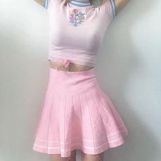 Valentine's Day SALE-TWO MOODS SPECIAL ITEMS - KAWAII baby PINK Tumblr High Waisted Skirt