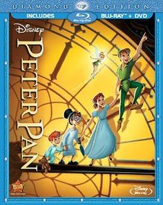 Peter Pan (Two-Disc Diamond Edition Blu-ray/DVD Combo in Blu-ray Packaging) (Walt Disney) Childhood Movies, Kid Movies, Family Movies, Great Movies, Movie Tv, Pan Movie, Children Movies, Popular Movies, Disney Movies By Year