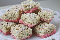 From Dahlias to Doxies: Pink Chocolate Rice Krispie Treats