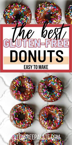 Readers are saying these are the best gluten free chocolate donuts and we agree. This gluten free donut recipe is simple to make and it uses minimal ingredients. #glutenfree #donuts #glutenfreedonuts Gluten Free Quick Bread, Gluten Free Coffee Cake, Best Gluten Free Desserts, Gluten Free Donuts, Gluten Free Recipes For Breakfast, Gluten Free Baking, Free Breakfast, Breakfast Ideas, Chocolate Cake Donuts
