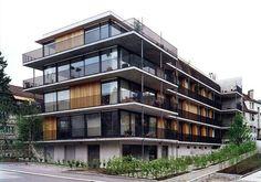 a f a s i a: Gret Loewensberg Facade Architecture, Residential Architecture, Architecture Colleges, Security Architecture, Landscape Architecture, Facade Design, Exterior Design, Habitat Collectif, Design Living Room