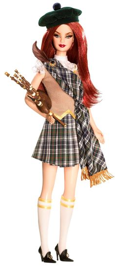 Amazon.com: Barbie Dolls Of The World Scotland: Toys & Games