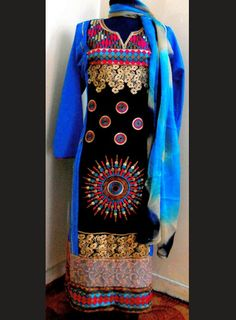Gorgeous dress employing sindhi embroidery