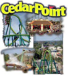 the best amusement park i've ever been to!! cedar point in sandusky, ohio