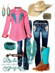 Roar button down, Miss Me, Tin Haul, American Hat Company. Country Style Outfits, Southern Outfits, Country Girl Style, Country Fashion, Cowgirl Outfits, Western Outfits, Western Wear, Cowgirl Style, Turquoise Clothes