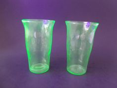 Vintage Juice Glasses Hex Optic Honeycomb by TheRoseGardenVintage