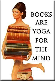 Bücher sind YOGA für den Geist Kühlschrank-MAGNET