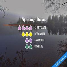Spring Rain Diffuser Blend #Essentialoildiffusers #Aromatherapy