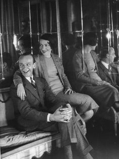 Fred Astaire with his sister and dancing partner Adele in the apartment of Conde Nast, 1930. Photo by Cecil Beaton.