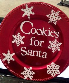 Cookies for Santa Decorative Plate on Etsy $8.00 & Christmas Tree Charger (plate). $10.00 via Etsy. | Christmas ...