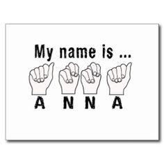 綴られるアナの一流指 はがき