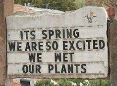 Spring humor at the garden center!