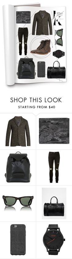 """LINCE Water Grey Magazine"" by fakefur on Polyvore featuring John Varvatos, Yves Saint Laurent, Maison Margiela, AMIRI, Ray-Ban, ASOS, Incase, MVMT, men's fashion and menswear"