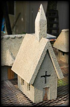 Hypertufa Church Cottage