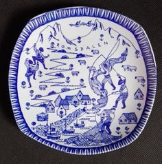 TALERZ DEKORACYJNY - STAVANGERFLINT Norway Pottery, Plates, Tableware, Ceramics, Licence Plates, Dishes, Dinnerware, Griddles, Plate