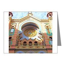 Colorful Jerusalem Synagogue Note Cards