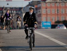 """The Trick to get more of us on bicycles is to """"Normalize"""" the activity and to make it look hip, cool, and desirable. Lycra won't do it.   Copenhagen Bikehaven by Mellbin 2011 - 2257 by Franz-Michael S. Mellbin, via Flickr"""