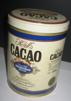 Korffs  Cacao Amsterdam Vintage Tin by vintagehouses on Etsy, $10.00