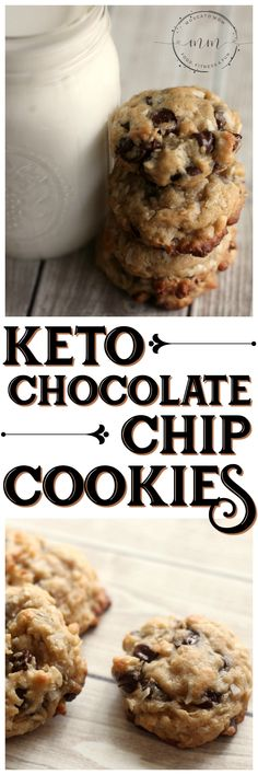 This Keto Chocolate Chip Cookies Recipe will satisfy your sweet tooth without going over your macros! Add in coconut and walnuts for even more flavor and fat!  #keto #ketorecipe #ketocookies