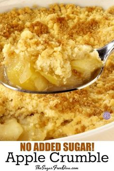 There is no added sugar in this delicious recipe for Sugar Free Apple Crumble that is diabetic and diet friendly to many diets. Diabetic Desserts, Sugar Free Desserts, Healthy Snacks For Diabetics, Apple Desserts, Diabetic Recipes, Apple Recipes For Diabetics, Diabetic Cupcakes, Pre Diabetic, Diabetic Living