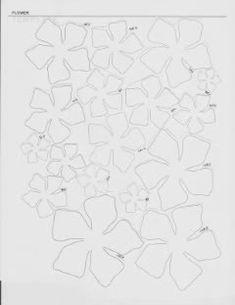 5 petal Martha flower template