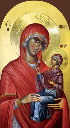 Αγία Άννα / Saint Anna Hagiography, Image, Painting, Orthodox Christian Icons, Art, Madonna And Child, Flower Wallpaper, Sacred