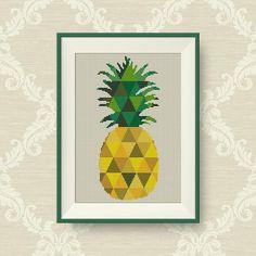 BUY 2 GET 1 FREE Geometric Pineapple Cross by NataliNeedlework