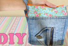 Aprenda como fazer uma bolsa de calça jeans reciclada