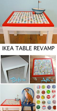 @Sweet Melody Photograhpy - Bianka Schmitz Aston Ikea Table Revamp with bottle caps�