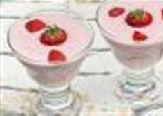 Aardbeien room dessert
