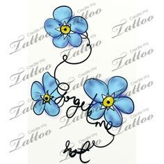 Marketplace Tattoo forget me not vine and flower #10783 | CreateMyTattoo.com