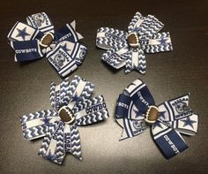 NFL Dallas Cowboys Set of 4 Hair Clips by ByChinchie on Etsy