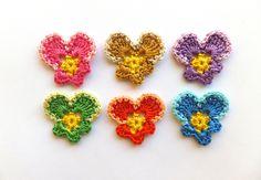 🌺 Flor de Crochê Receita Amor - Perfeito Pétalas -  /  🌺 Crocheted Flower Recipe Love - Perfect Petals -