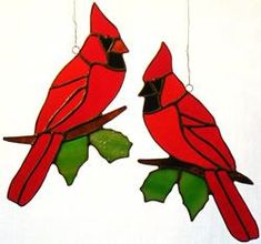 Wrenovations Custom Stained Glass Creations Birds page Stained Glass Cardinal, Stained Glass Ornaments, Stained Glass Birds, Stained Glass Christmas, Stained Glass Suncatchers, Faux Stained Glass, Stained Glass Lamps, Stained Glass Panels, Stained Glass Projects