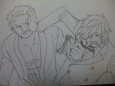 Roronoa Zoro and Sanji #one piece