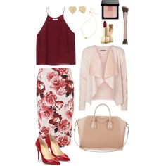 Business attire #floral #red