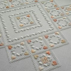 Back again for the next segment of the work on my most recent hardanger scatter cushion cover. I've loved working on this one.  It's bee...