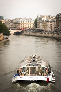A boat on the Seine, Paris, France.  We did this after the sun was down and it was absolutely beautiful to see Paris at night!