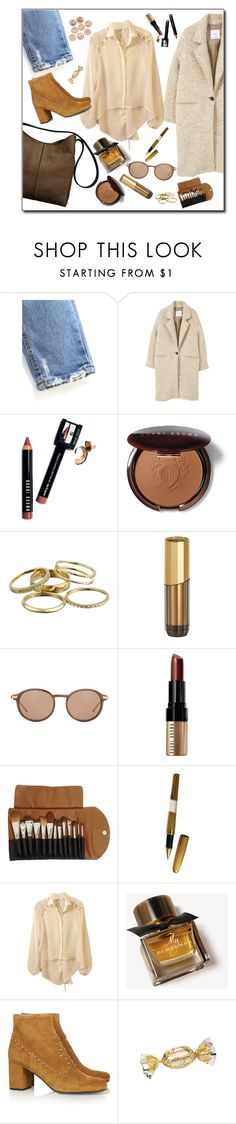 """""""Sin título #1784"""" by mussedechocolate ❤ liked on Polyvore featuring MANGO, Bobbi Brown Cosmetics, Kendra Scott, Loewe, Claudio Riaz, S.T. Dupont, Burberry and Yves Saint Laurent"""