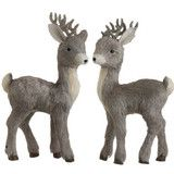 19.5 inch deer covered with brown and cream shades of sisel.  Set of 2 available