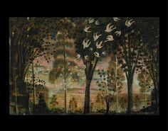 Mississippi Sisters: The Trees of Muralist Kevin Paulsen Primitive Painting, Painting & Drawing, Wall Murals, Folk Art, Deer, Beautiful Places, Birds, Wallpaper, Drawings