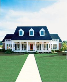 Cape Cod Colonial Country Southern Elevation of Plan 98369