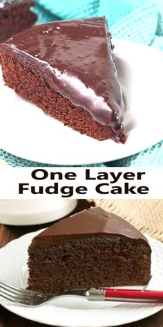 One Layer Fudge Cake – A fabulous, smaller decadent chocolate cake! – That Skinny Chick Can Bake! One Layer Fudge Cake – A fabulous, smaller decadent chocolate cake! An EASY decadent chocolate cake that's perfect for a smaller crowd! Decadent Chocolate Cake, Homemade Chocolate, Chocolate Desserts, Chocolate Lovers, 1 Layer Chocolate Cake Recipe, Chocolate Cake Recipe Videos, Chocolate Videos, Making Chocolate, Chocolate Chocolate