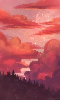 Super Ideas For Abstract Wallpaper Backgrounds Landscape Aesthetic Pastel Wallpaper, Scenery Wallpaper, Wallpaper Backgrounds, Aesthetic Wallpapers, Landscape Wallpaper, Fantasy Landscape, Landscape Art, Fantasy Art, Animes Wallpapers