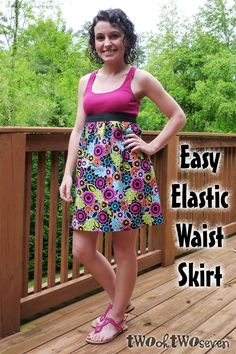 I didn't really know what to call this, hence the Empire Waist Skirt. I started with this Empire Waist Dress tutorial  by Maggie over at ...