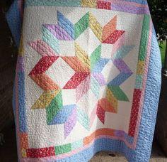 Carpenter's square - cute baby quilt